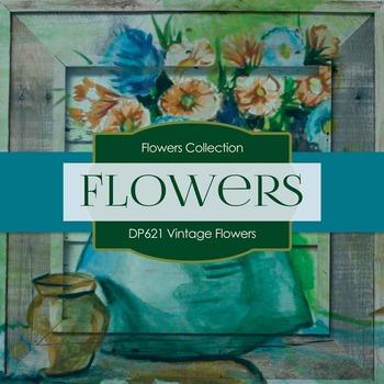 Digital Papers - Vintage Flowers (DP621)