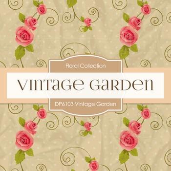 Digital Papers - Vintage Garden (DP6103)