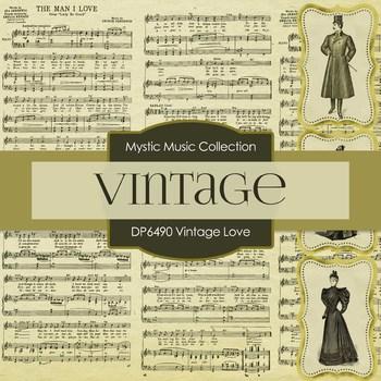 Digital Papers - Vintage Love (DP6490)