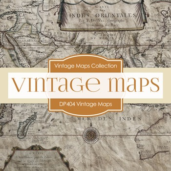Digital Papers - Vintage Maps (DP404)