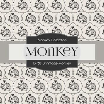 Digital Papers - Vintage Monkey (DP6813)