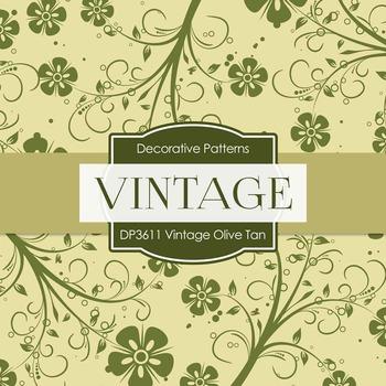 Digital Papers - Vintage Olive Tan (DP3611)