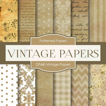 Digital Papers - Vintage Papers (DP440)