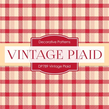 Digital Papers - Vintage Plaid (DP789)