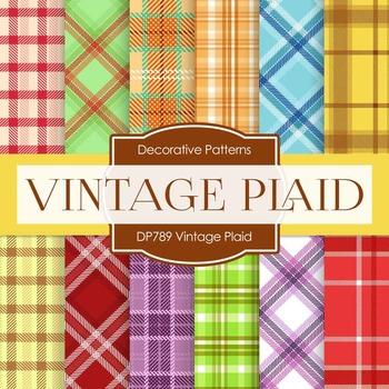 Digital Papers - Vintage Plaid (DP789)