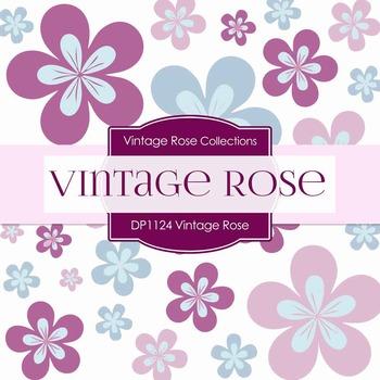 Digital Papers - Vintage Rose Damask (DP1124)