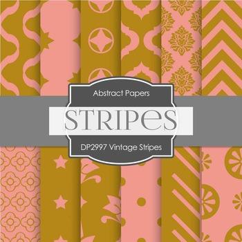 Digital Papers - Vintage Stripes (DP2997)