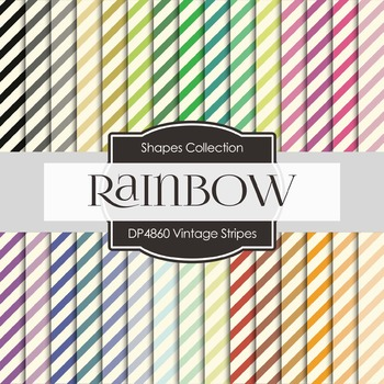 Digital Papers - Vintage Stripes (DP4860)