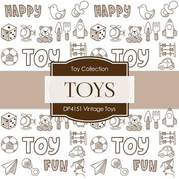 Digital Papers - Vintage Toys (DP4151)