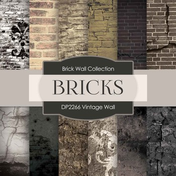 Digital Papers - Vintage Wall (DP2266)