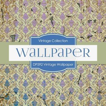 Digital Papers - Vintage Wallpaper  (DP592)