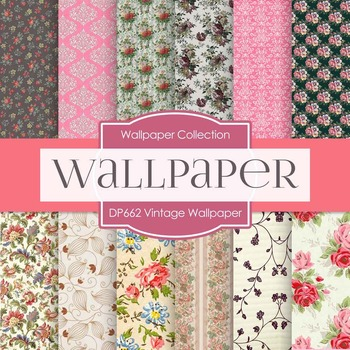 Digital Papers - Vintage Wallpaper (DP662)