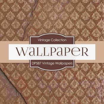 Digital Papers - Vintage Wallpapers  (DP587)