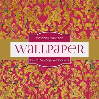 Digital Papers - Vintage Wallpapers  (DP598)