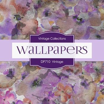 Digital Papers - Vintage Wallpapers (DP710)