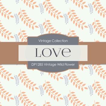 Digital Papers - Vintage Wild Flower (DP1285)