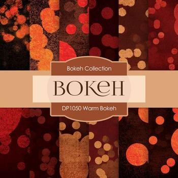 Digital Papers - Warm Bokeh (DP1050)