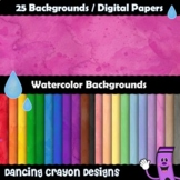 Digital Papers: Water Color Backgrounds - Clip Art