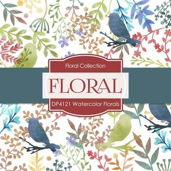 Digital Papers - Watercolor Florals (DP4121)