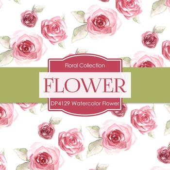 Digital Papers - Watercolor Flower (DP4129)