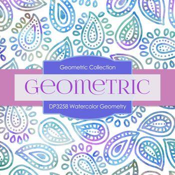 Digital Papers - Watercolor Geometry (DP3258)