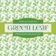 Digital Papers - Watercolor Green Leaf (DP6220)