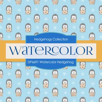 Digital Papers - Watercolor Hedgehog (DP6691)
