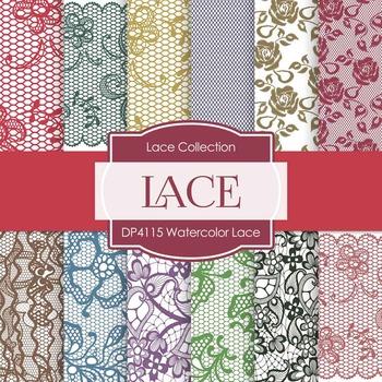 Digital Papers - Watercolor Lace (DP4115)