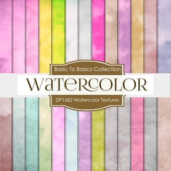 Digital Papers - Watercolor Textures (DP1682)