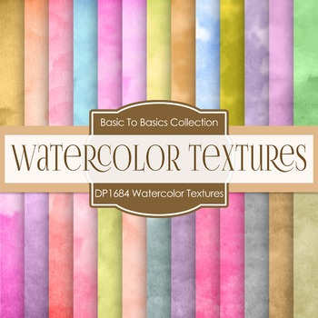 Digital Papers - Watercolor Textures (DP1684)