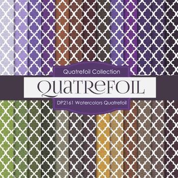 Digital Papers - Watercolors Quatrefoil (DP2161)