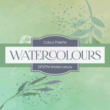 Digital Papers - Watercolours (DP3794)