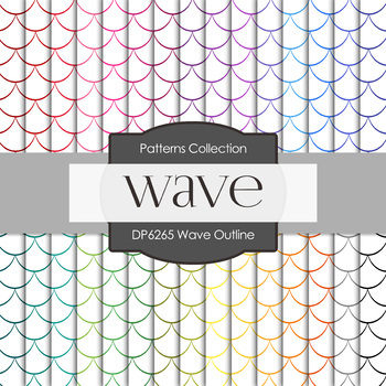 Digital Papers - Wave Outline (DP6265)