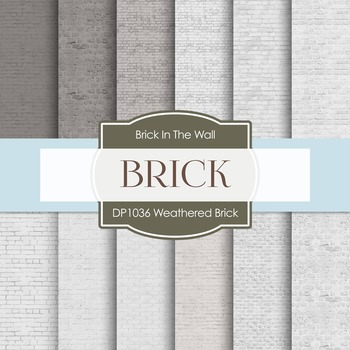 Digital Papers - Weathered Brick (DP1036)