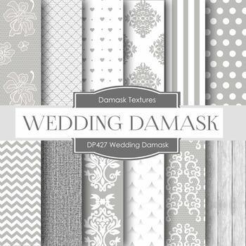 Digital Papers - Wedding Damask (DP427)