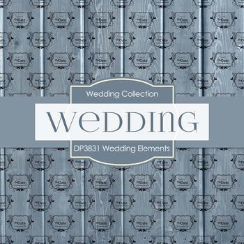 Digital Papers - Wedding Elements (DP3831)