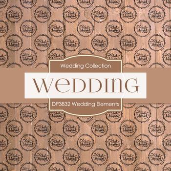 Digital Papers - Wedding Elements (DP3832)