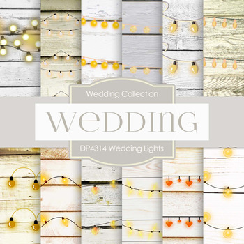 Digital Papers - Wedding Lights (DP4314)