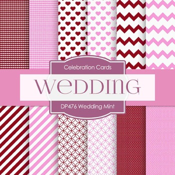 Digital Papers - Wedding Mint (DP476)
