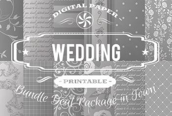 Digital Papers - Wedding Patterns Bundle Deal