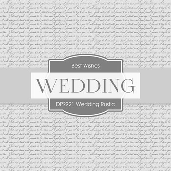 Digital Papers - Wedding Rustic (DP2921)