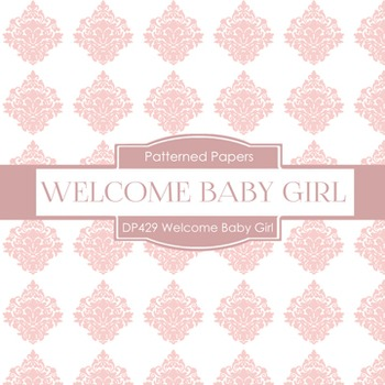 Digital Papers - Welcome Baby Girl (DP429)