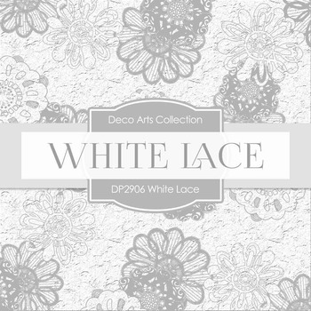 Digital Papers - White Lace (DP2906)