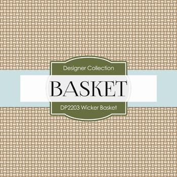 Digital Papers - Wicker Basket (DP2203)