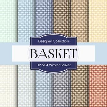 Digital Papers - Wicker Basket (DP2204)