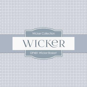 Digital Papers - Wicker Basket (DP481)