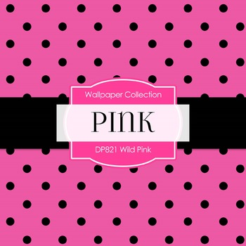 Digital Papers -  Wild Pink (DP821)