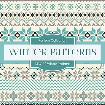 Digital Papers - Winter Patterns (DP6132)