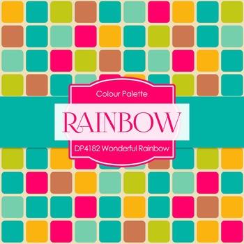 Digital Papers - Wonderful Rainbow (DP4182)
