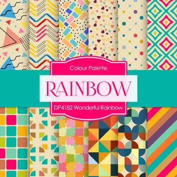 Digital Papers - Wonderful Rainbow (DP4182)